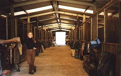 Girl in stables 1